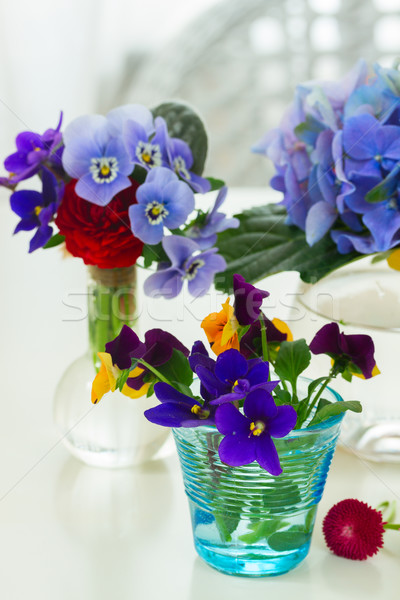 Colorful cut flowers Stock photo © neirfy