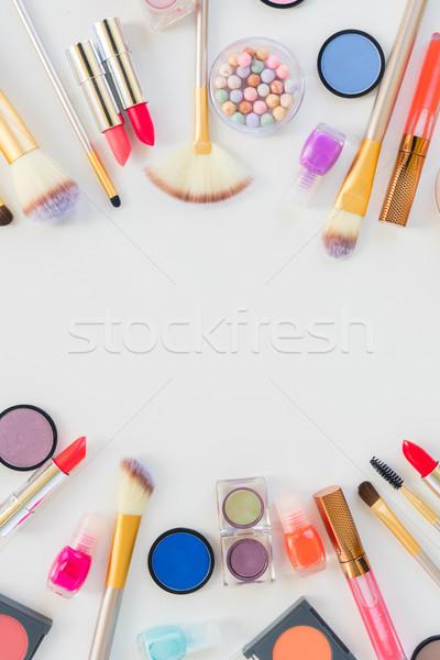 Colorato compongono scena copia spazio frame bellezza Foto d'archivio © neirfy