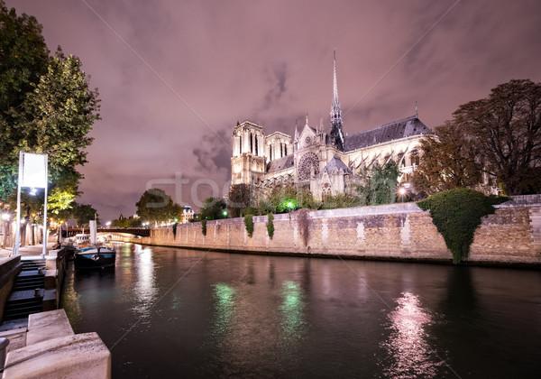 ノートルダム大聖堂 パリ フランス 川 1泊 ストックフォト © neirfy