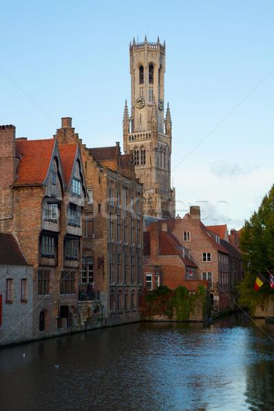 мнение старые классический башни Бельгия дома Сток-фото © neirfy