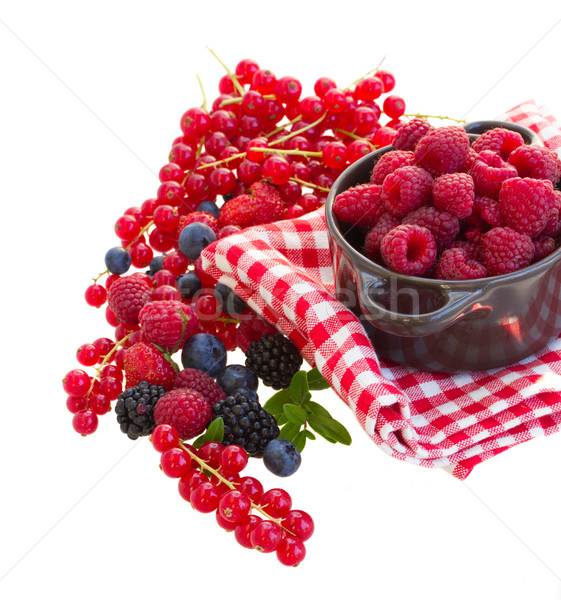 Ripe  of rasberry and other  berries Stock photo © neirfy