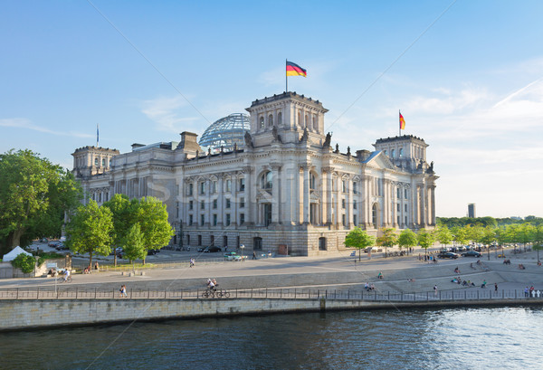 Reichstag building, view from Spree river in Berlin, Germany Stock photo © neirfy