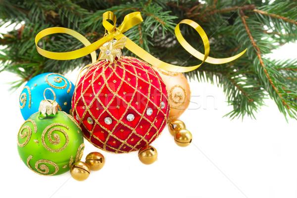 Foto stock: Establecer · Navidad · rama