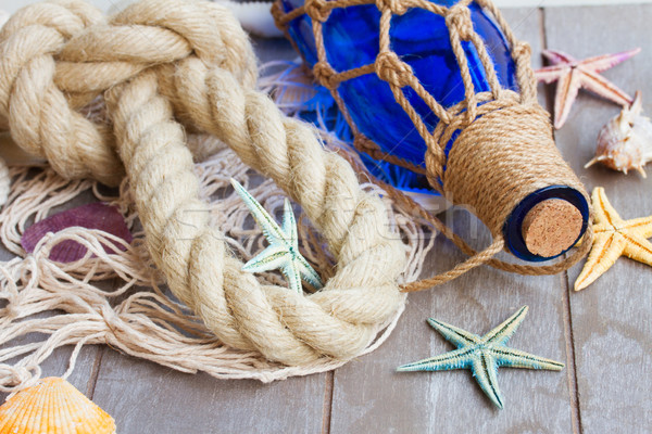 compass on fishing net  Stock photo © neirfy