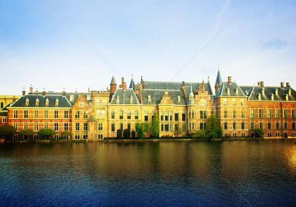 голландский парламент Нидерланды ретро служба строительство Сток-фото © neirfy