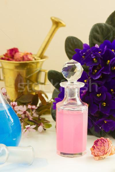 Aromaterapia secar flores Óleo folha verão Foto stock © neirfy
