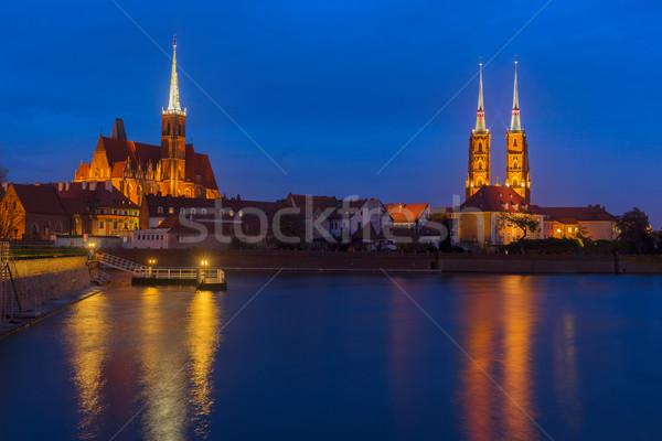 island Tumsk, Wroclaw, Poland Stock photo © neirfy