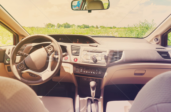 car windscreen with road Stock photo © neirfy