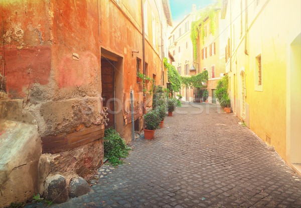 улице Рим Италия мнение старый город итальянский Сток-фото © neirfy