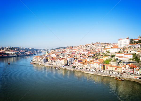 Città vecchia sopra Portogallo retro casa arancione Foto d'archivio © neirfy