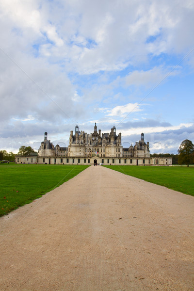 road to Chambord chateau, France Stock photo © neirfy