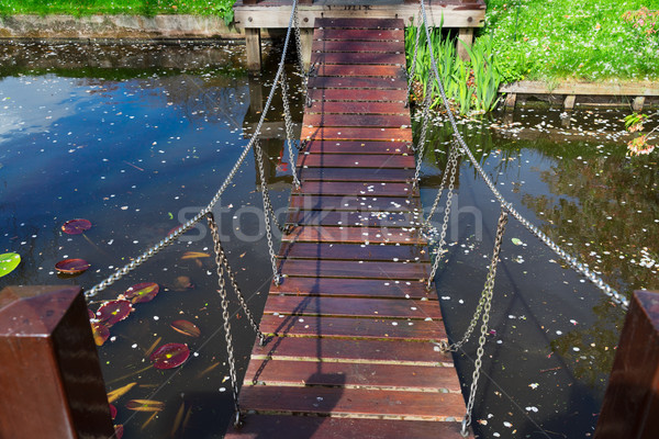 Stock photo: Bridge over river