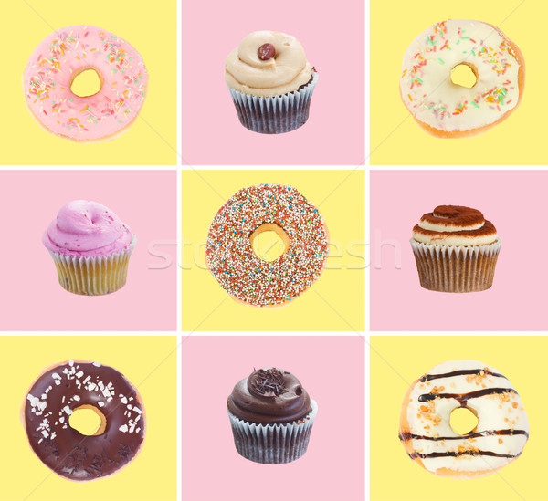 donuts and cupcakes Stock photo © neirfy