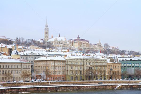 Buda hill at Budapest Stock photo © neirfy