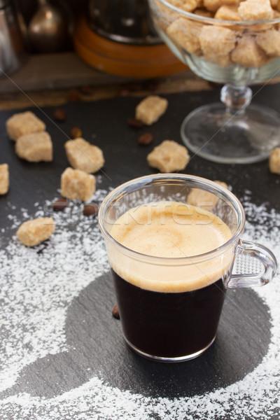 カップ コーヒー エスプレッソ 砂糖 透明な 水 ストックフォト © neirfy