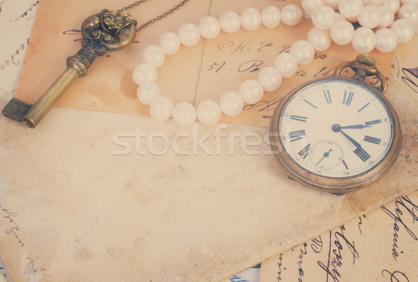 mail  with  old clock Stock photo © neirfy