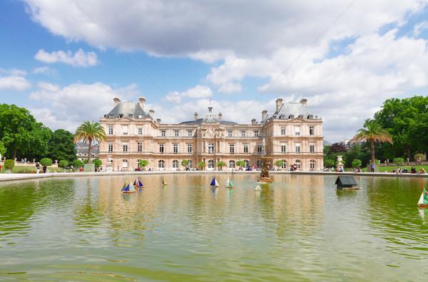 Luksemburg ogród słynny staw Paryż Francja Zdjęcia stock © neirfy