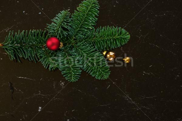 クリスマス シーン 小枝 装飾 黒 デザイン ストックフォト © neirfy
