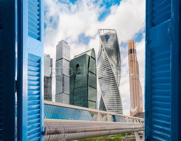 ストックフォト: ルーム · オープンドア · 市 · 現代 · 想像力 · 夢