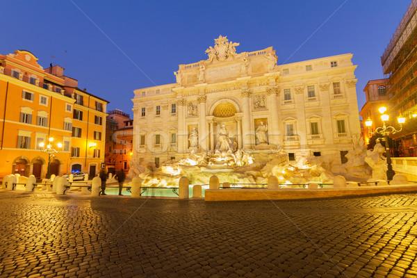 Сток-фото: фонтан · мнение · известный · ночь · воды