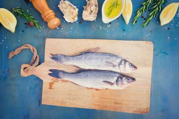 fresh sea fish preparation Stock photo © neirfy