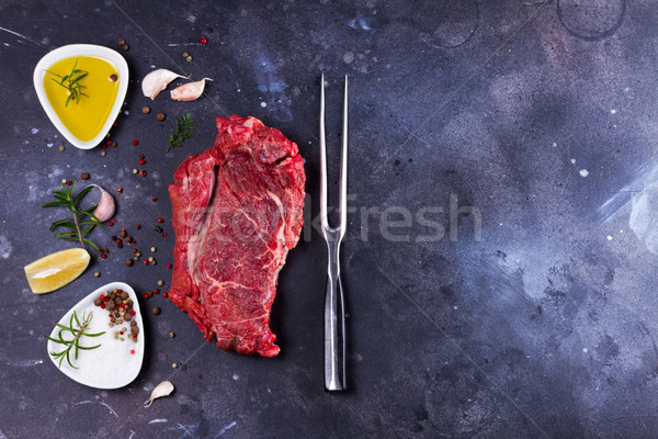 Raw beef steak Stock photo © neirfy