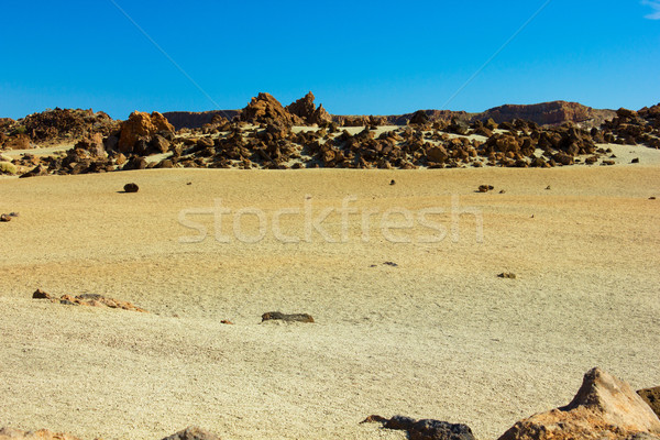 Völgy Tenerife Spanyolország terméketlen vulkán égbolt Stock fotó © neirfy