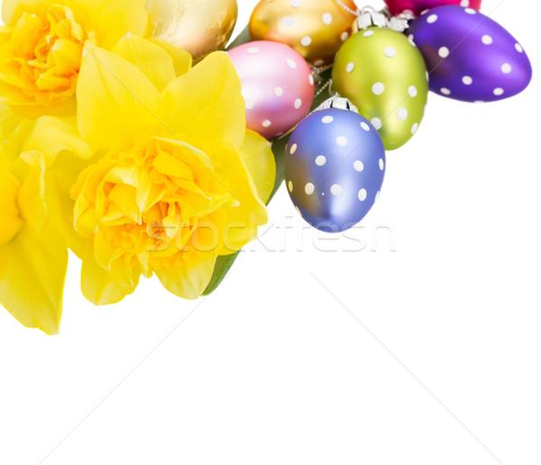 スイセン 花 イースターエッグ 花束 卵 孤立した ストックフォト © neirfy