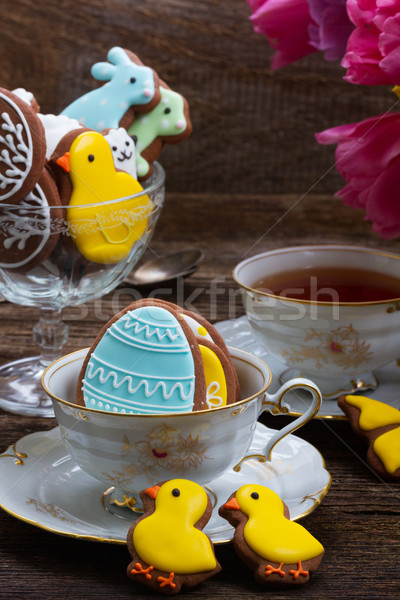 Cup with easter cookies  Stock photo © neirfy