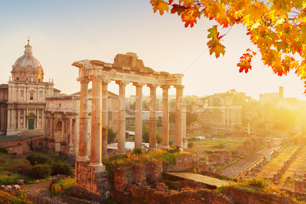 Forum romaine ruines Rome Italie cityscape Photo stock © neirfy