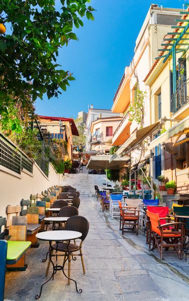 Rua Atenas Grécia pequeno distrito Foto stock © neirfy