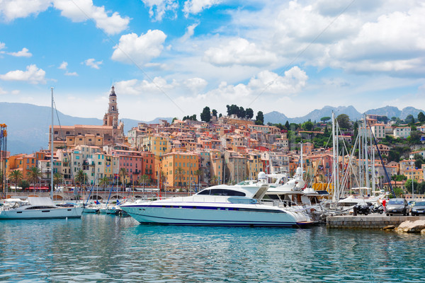 Menton embankment, France Stock photo © neirfy