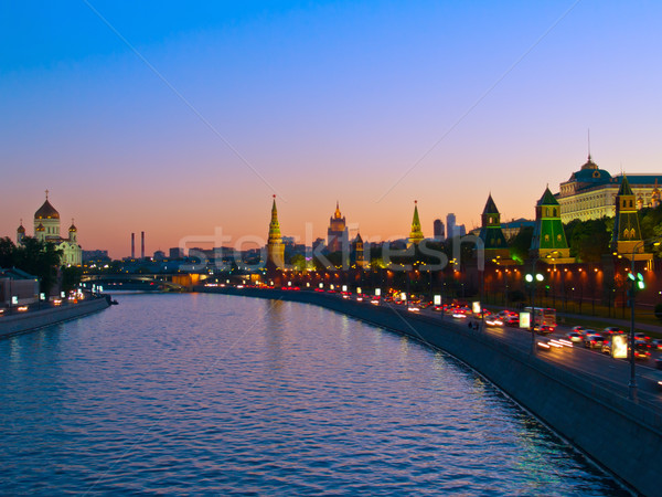 embankment of Moscow river, Moscow, Russia Stock photo © neirfy