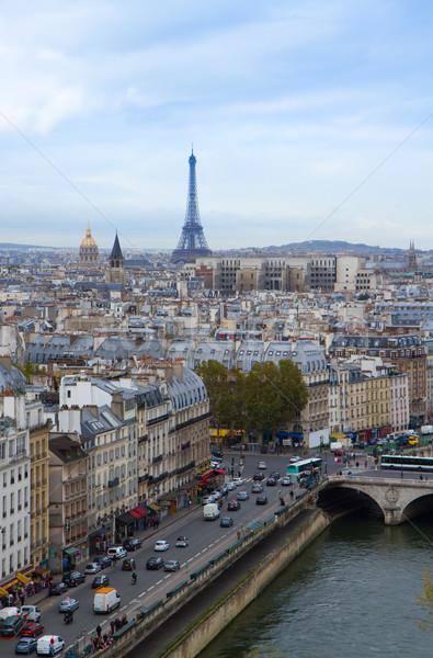 skyline of Paris Stock photo © neirfy
