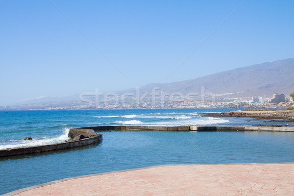 Zuiden kust tenerife Spanje strand hemel Stockfoto © neirfy