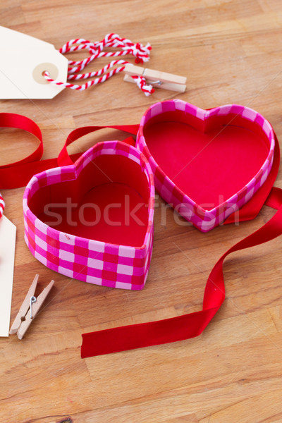 open empty box in heart shape Stock photo © neirfy