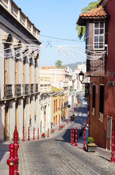 street of Orotava, Tenerife Stock photo © neirfy