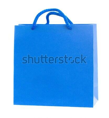 青 紙袋 孤立した 白 紙 ショッピング ストックフォト © neirfy