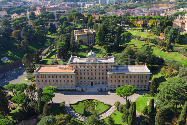 Vatican's garden, view from above Stock photo © neirfy