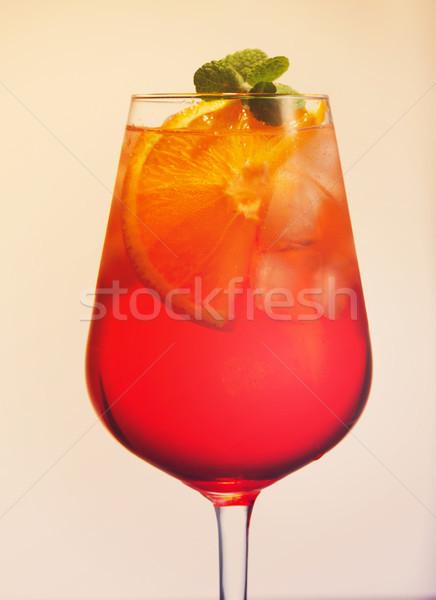 Glass of spritz Stock photo © neirfy