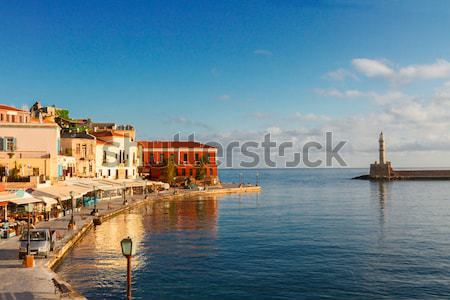 ベニスの ギリシャ 港 水辺 灯台 旧市街 ストックフォト © neirfy