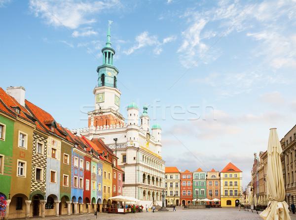 Old market square in Poznan,  Poland Stock photo © neirfy