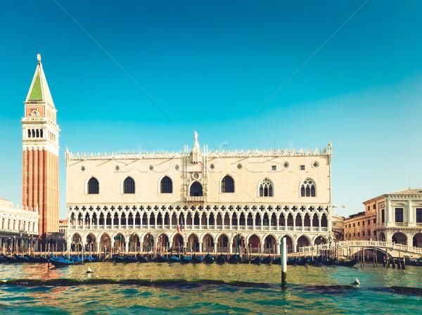 宮殿 ヴェネツィア イタリア 夏 日 空 ストックフォト © neirfy