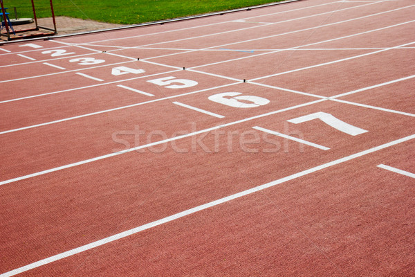 Stok fotoğraf: Sayılar · son · yarış · doku · spor · egzersiz