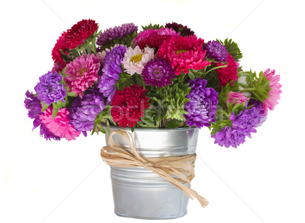 bouquet of aster flowers in vase Stock photo © neirfy