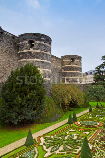 walls  of Angers castle, France Stock photo © neirfy