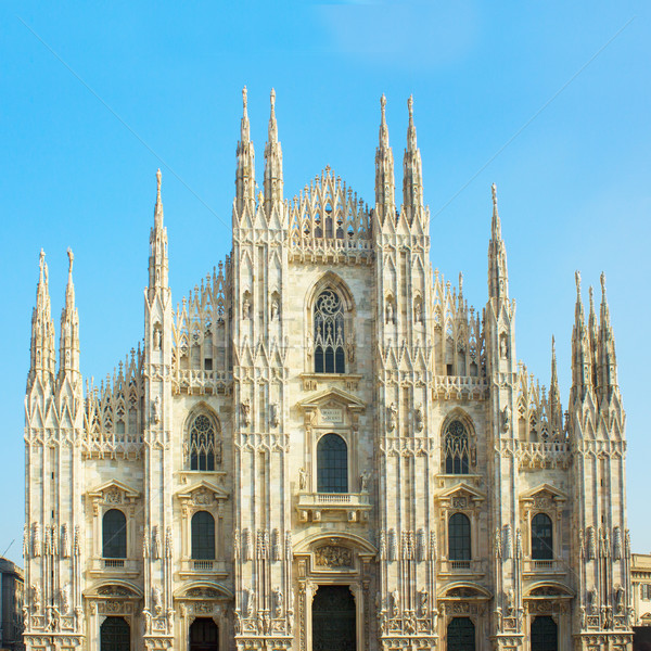 facade of cathedral of Milano, Italy Stock photo © neirfy