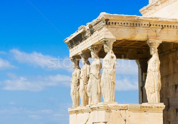 Templo Acrópole Atenas detalhes Grécia cidade Foto stock © neirfy