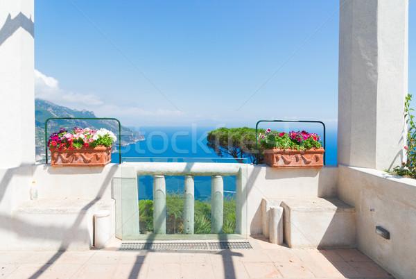 Pueblo costa Italia galería mar vista Foto stock © neirfy