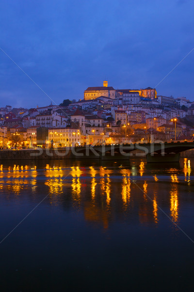 óváros Portugália folyópart éjszaka ház narancs Stock fotó © neirfy